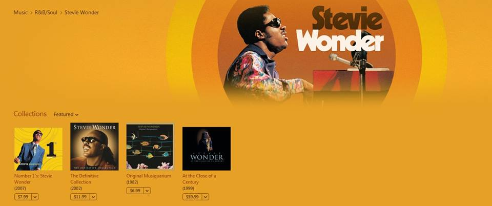 Stevie Wonder albums mastered on itunes image
